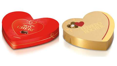 A San Valentino regala Mon Cherì e Ferrero Rocher, ma nella speciale confezione a forma di cuore!