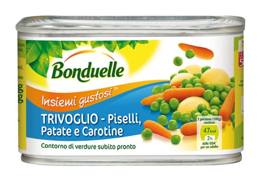 Da Bonduelle Trivoglio: pisellini, carotine baby e patate tagliate a cubetti, ancora più buoni!