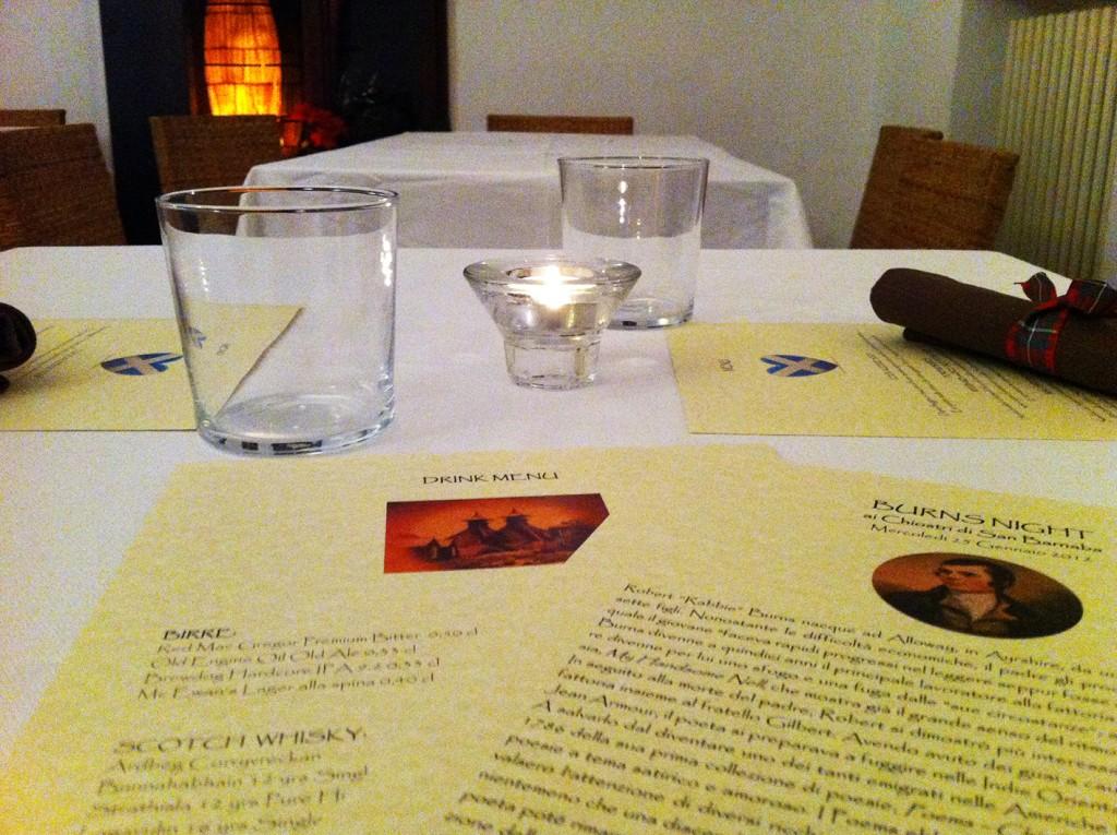Burns Nigth Venerdì 25 gennaio un ricco menù di piatti Made in Scotland