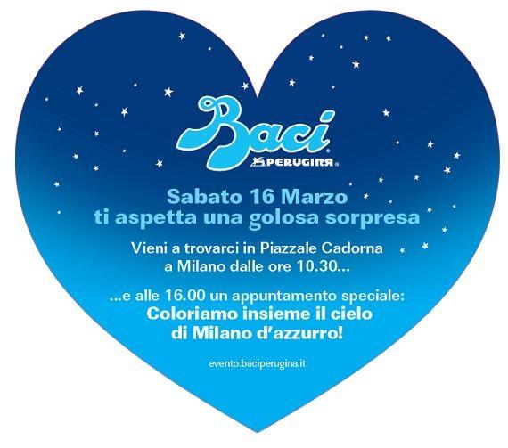 Il 16 marzo appuntamento a Milano con Baci Perugina per colorare insieme il cielo d'azzurro