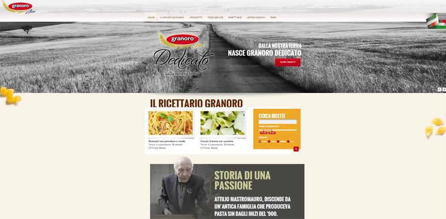 Ecco il nuovo sito ufficiale di Granoro