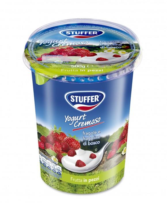 Novità stuffer, lo yogurt alle fragole e fragoline di bosco nel nuovo formato da 500 g