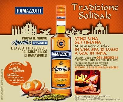In India con aperitivo Ramazzotti. Al via il concorso estivo promosso da Pernod Ricard Italia