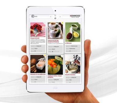 """""""Ricettario kclub"""": la nuova app kenwood per chi ama sperimentare in cucina. gratuita e semplice da usare"""