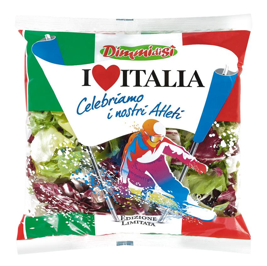 L'insalata DimmidiSì fa il tifo per gli atleti italiani!