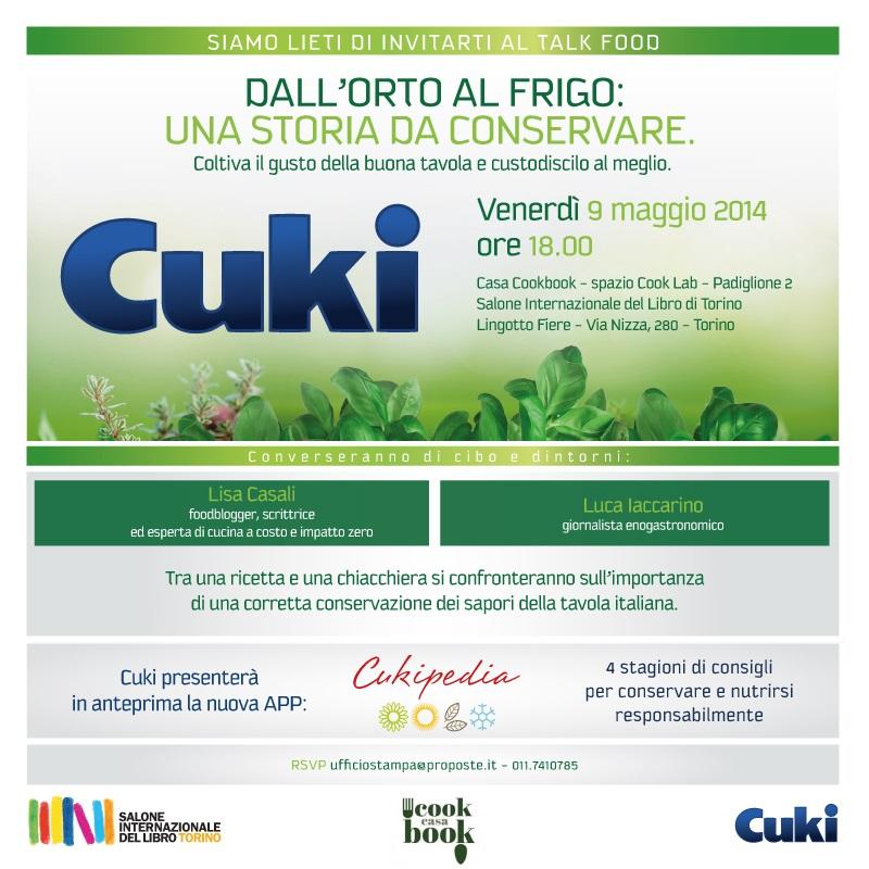 Al 27° Salone Internazionale del Libro di Torino CUKI propone articolati laboratori di cucina