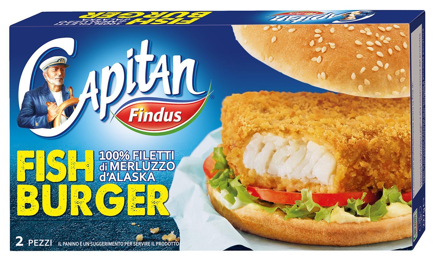 I nuovi Fish Burger di Capitan Findus