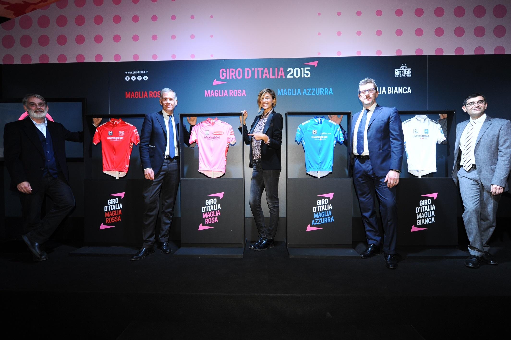 Il logo Balocco sulla nuova Maglia Rosa del Giro d'Italia 2015