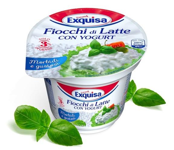 Fiocchi di latte con yogurt Exquisa, per un'alimentazione sana e leggera