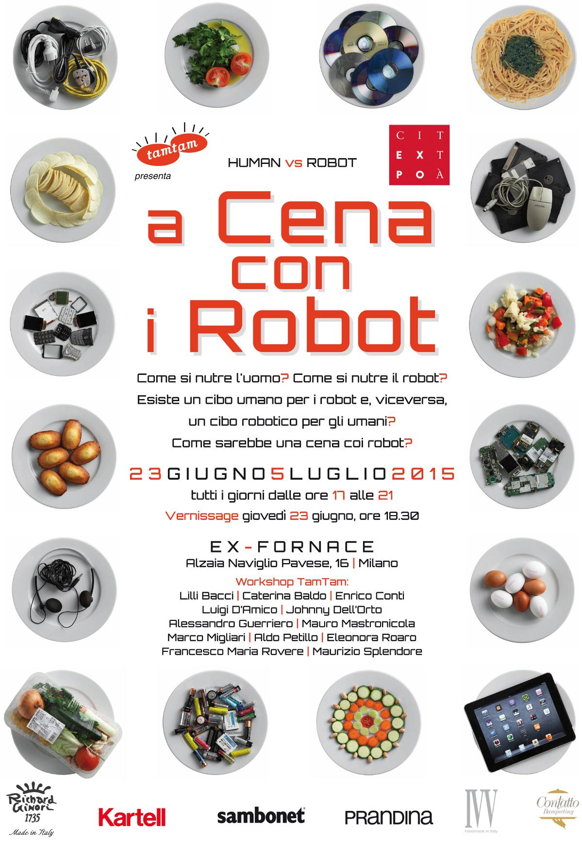 A cena con i robot Milano, dal 23 giugno al 5 luglio