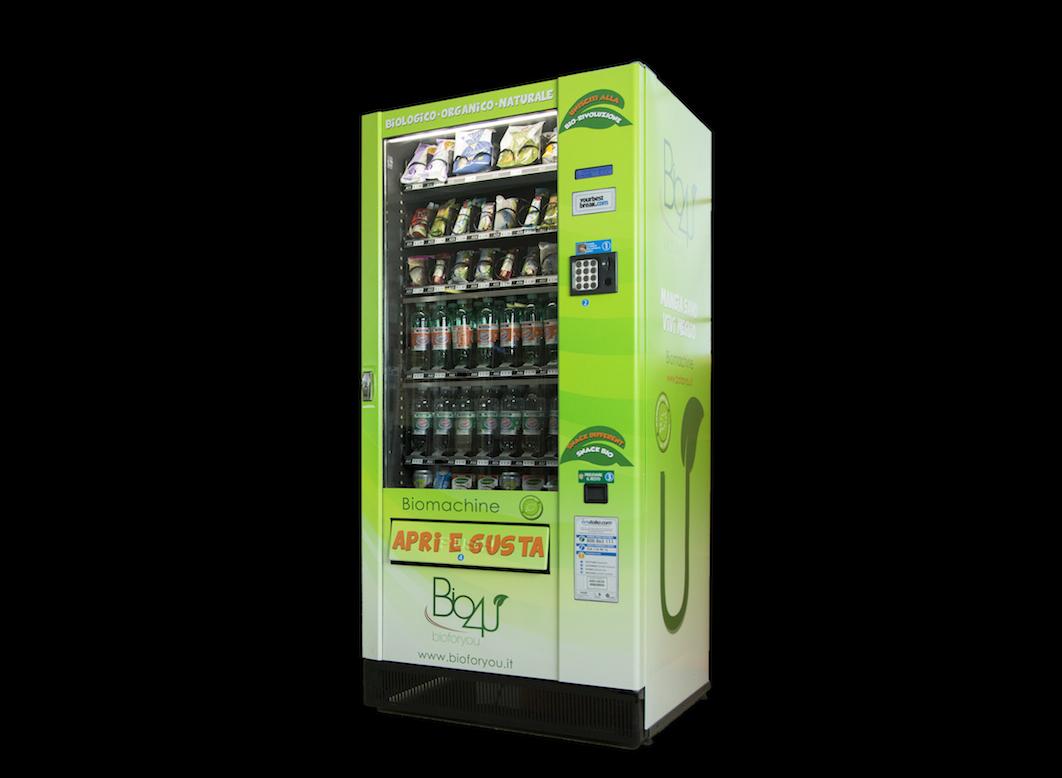 Solo prodotti biologici nei distributori automatici Bio4U