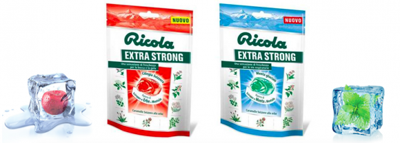 Due nuovi gusti per le gustosissime caramelle Ricola Extra Strong