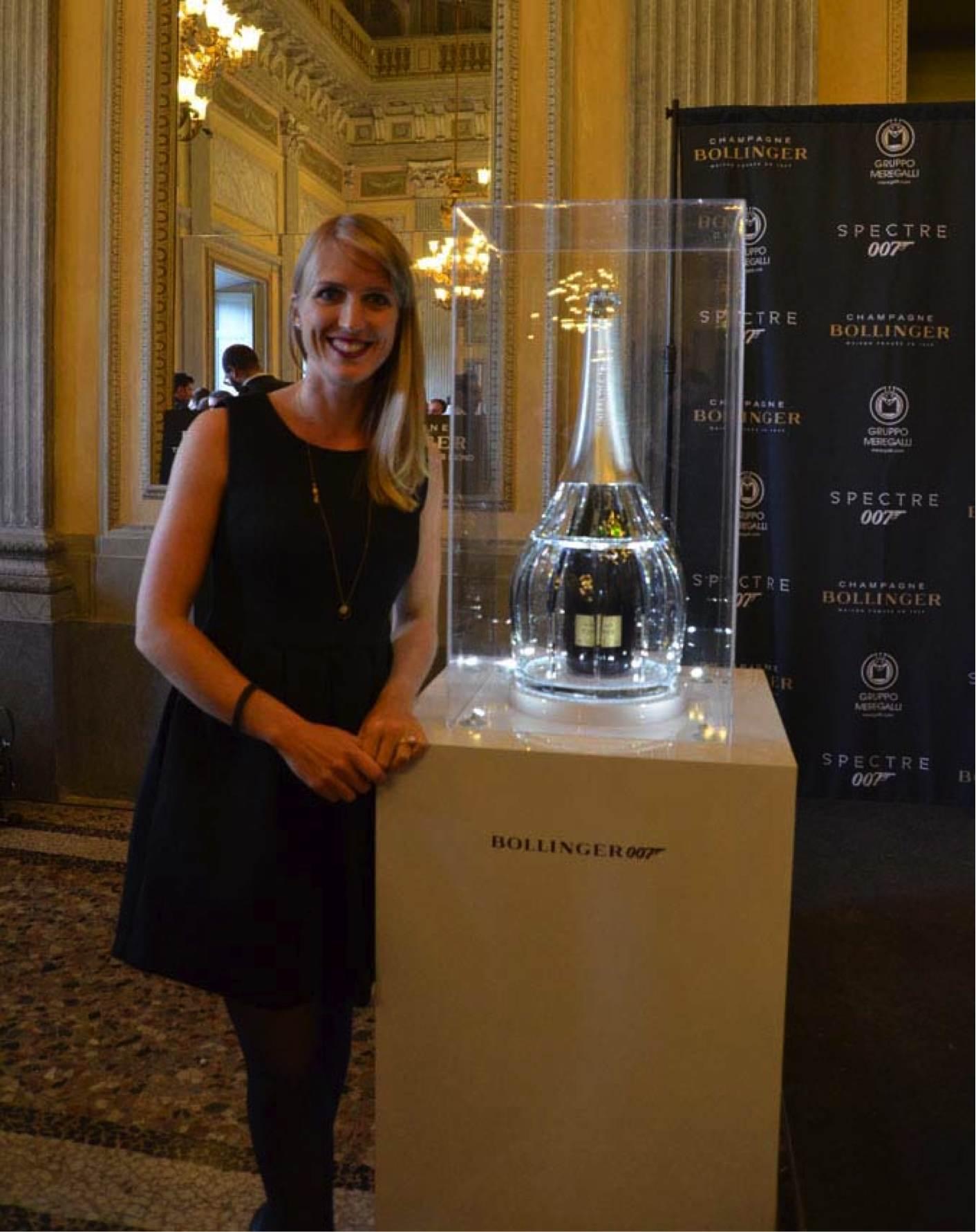 Bollinger celebra l'uscita in Italia di Spectre Limited Edition esclusivo champagne a Villa Reale