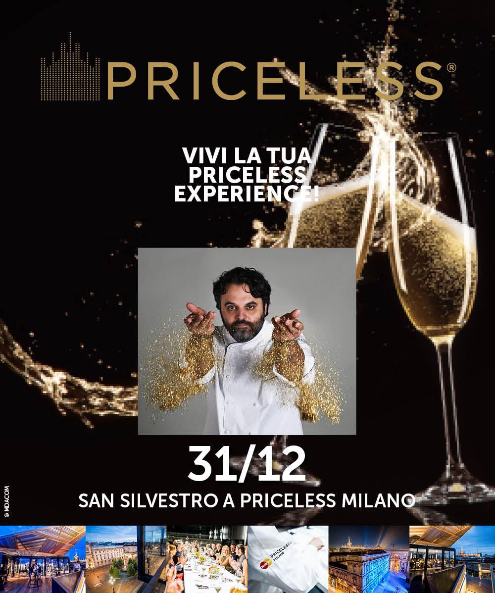 Il 31 Dicembre festeggia con noi il Capodanno al Ristorante Priceless Milano