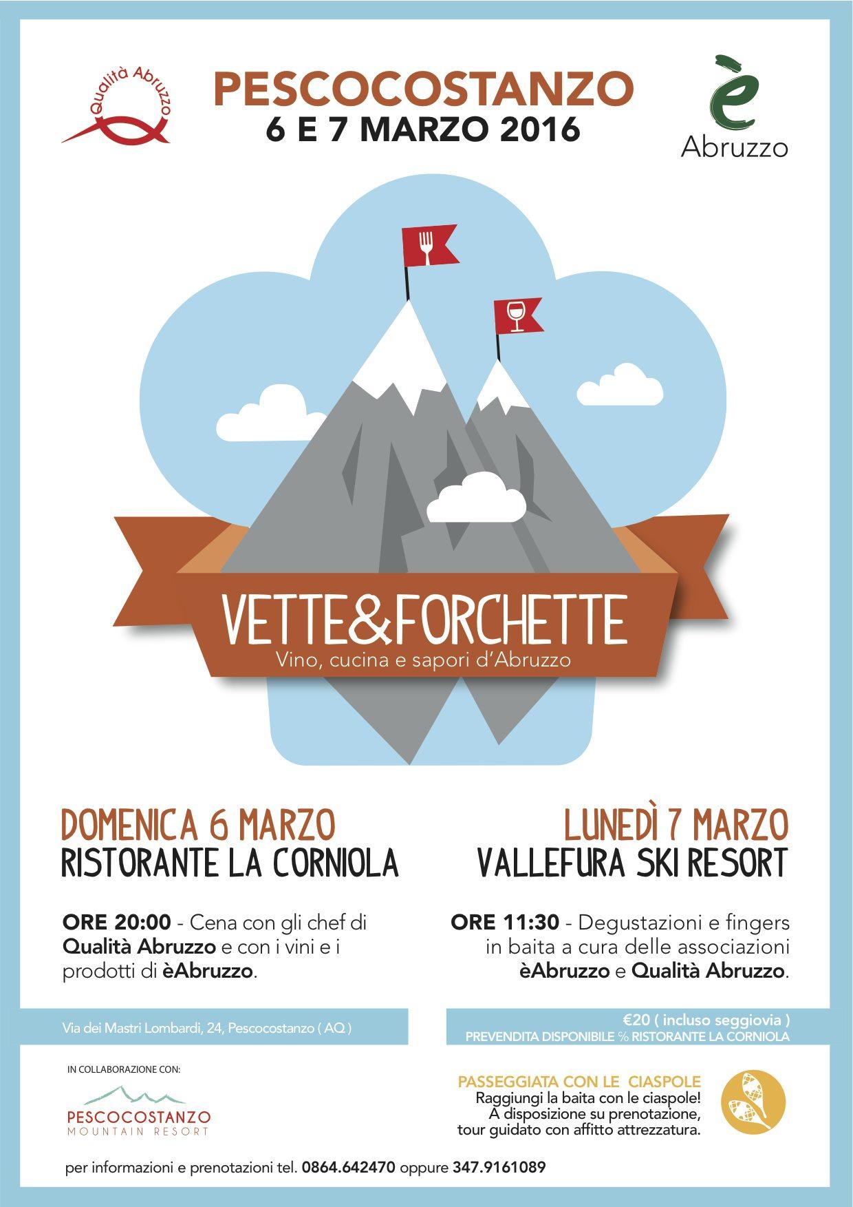 VETTE&FORCHETTE: Pescocostanzo borgo gourmet