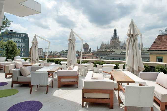 Sulla terrazza del Boscolo Hotel Milano approda Sergio Mei