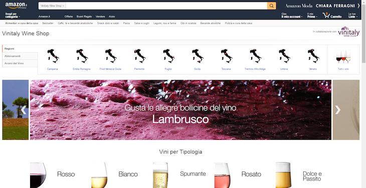 Amazon e Vinitaly alleati per un nuovo store dedicato alle etichette italiane