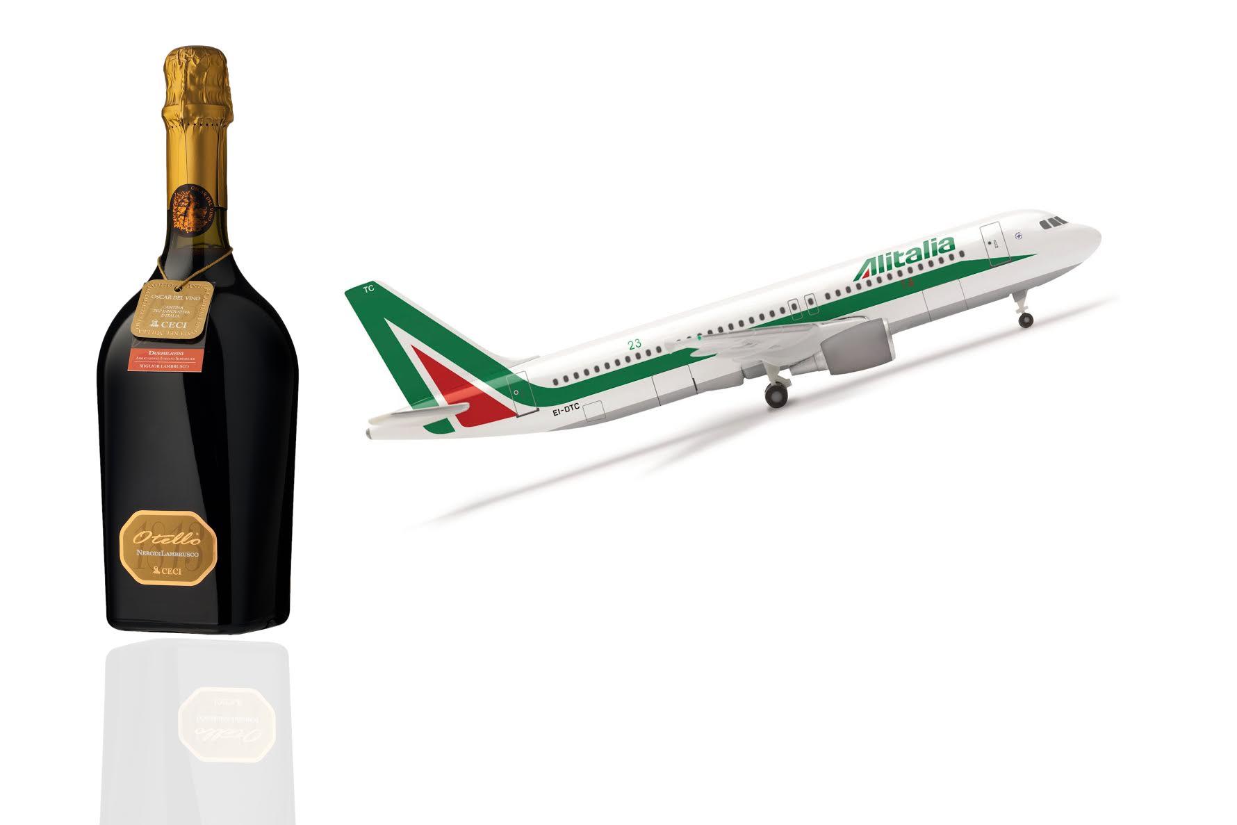 Otello NerodiLambrusco 1813 vola con Alitalia