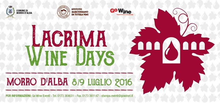 Al via l'8 e il 9 luglio Lacrima Wine Days