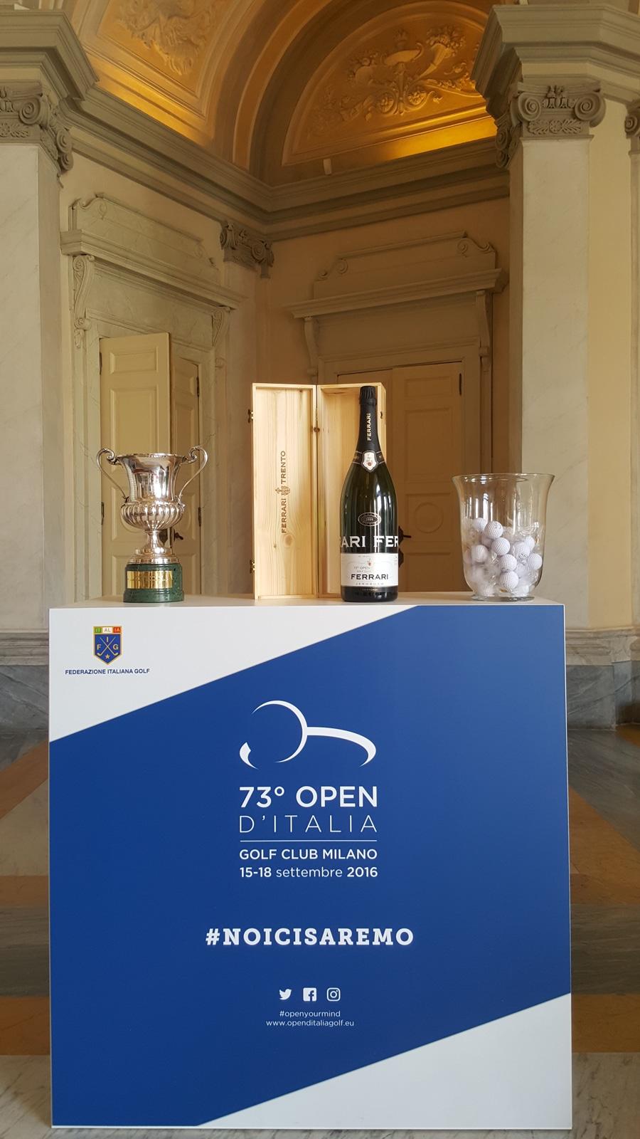 Agli Open d'Italia di Golf si brinda con le bollicine Ferrari Trentodoc firmate Lunelli