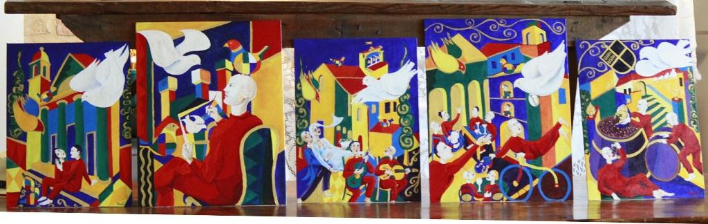 """Nella nuova tinaia della Cantina Casato Prime Donne vola la colomba di Turchi: """"The dove's flight"""" l'installazione artistica per l'edizione 2016 del Premio"""