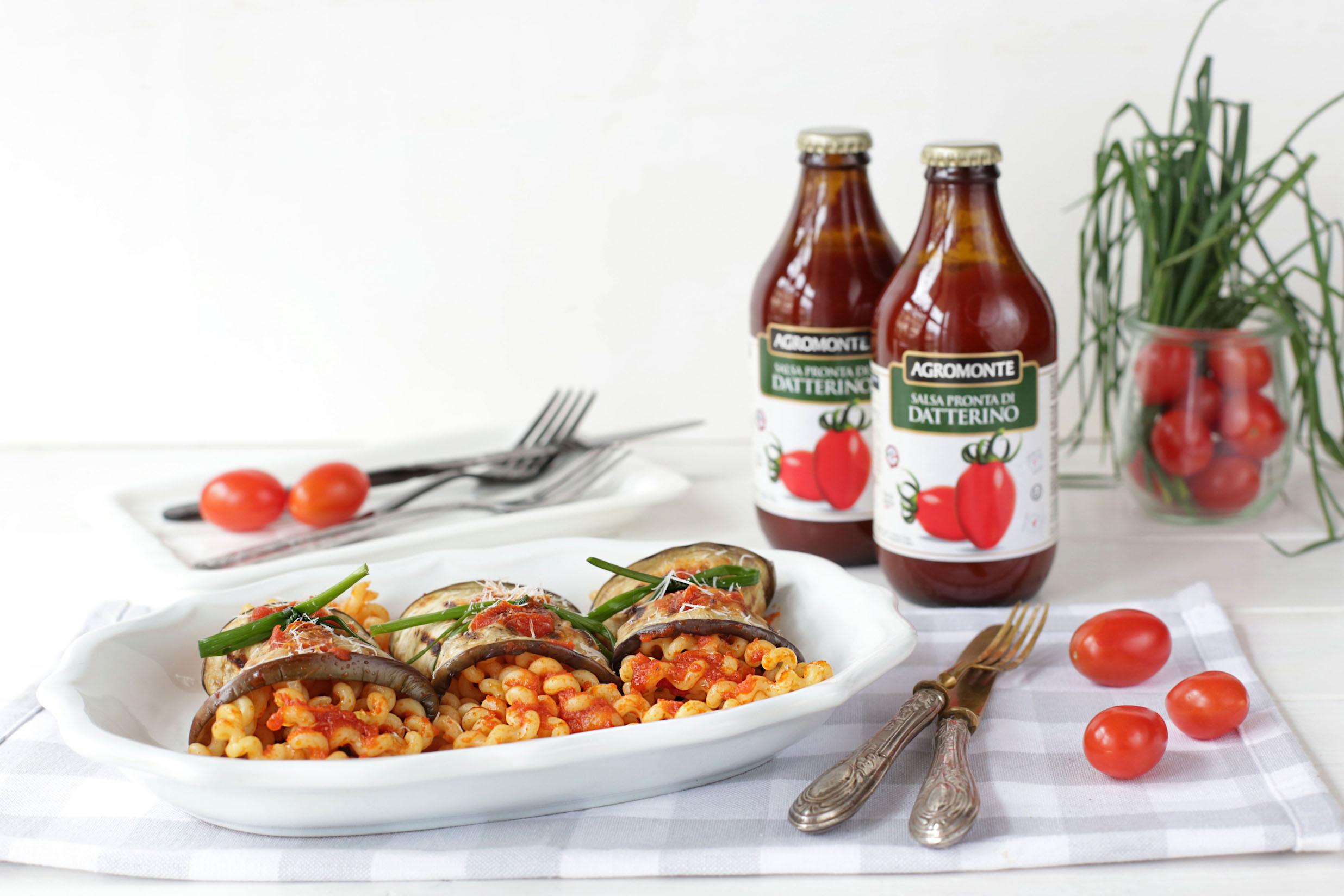 Paccheri al forno con salsa di pronta di datterino Agromonte