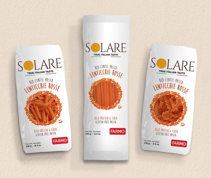 Solare, la pasta Farmo a base di legumi e vegetali