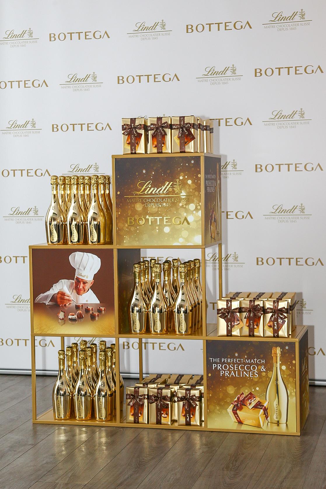 La nuova partnership tra Bottega e Lindt coniuga il Prosecco alle Praline