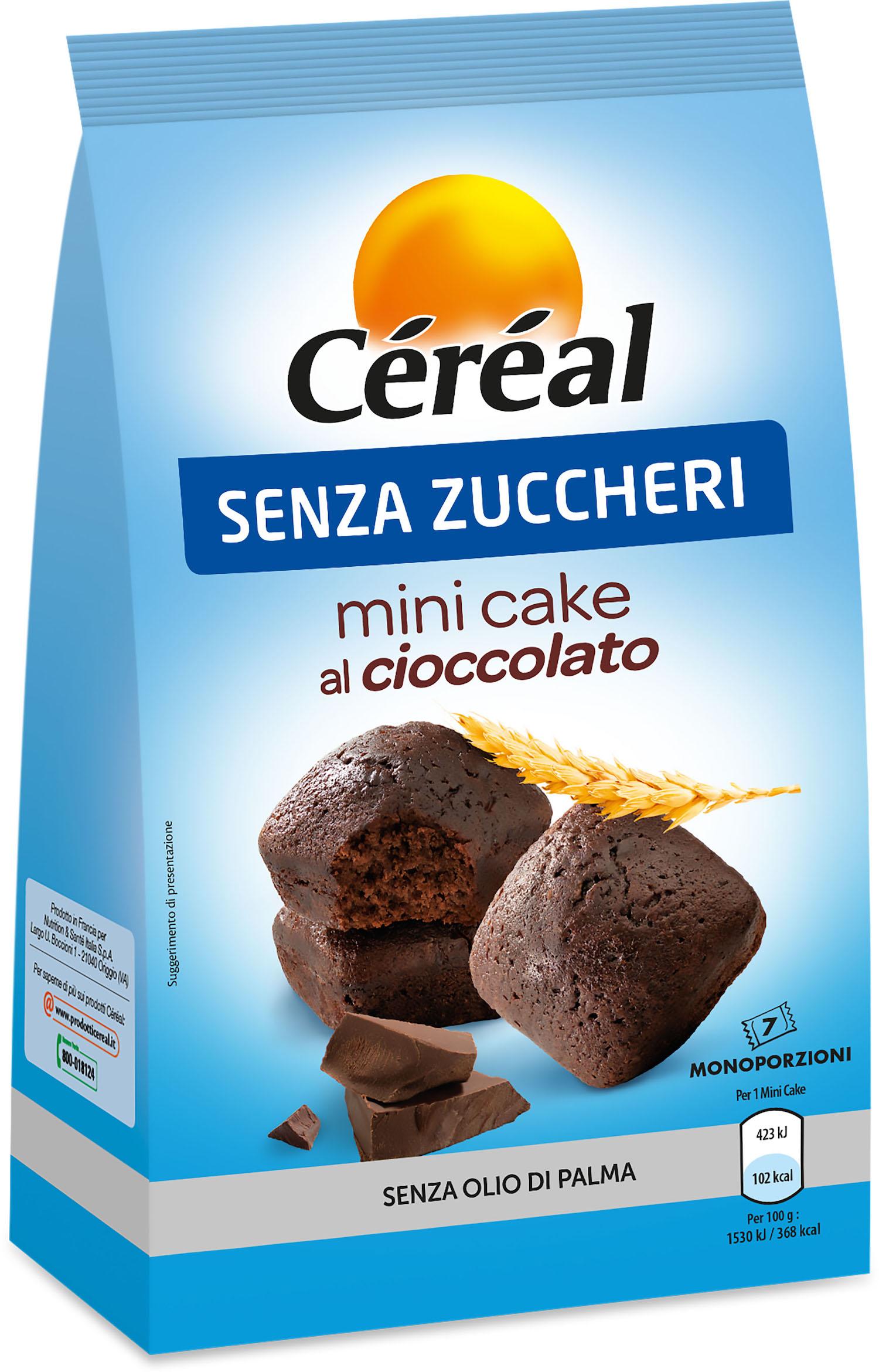 Arrivano i nuovi Mini Cake senza Zuccheri Céréal nei due gusti Limone o Cioccolato!
