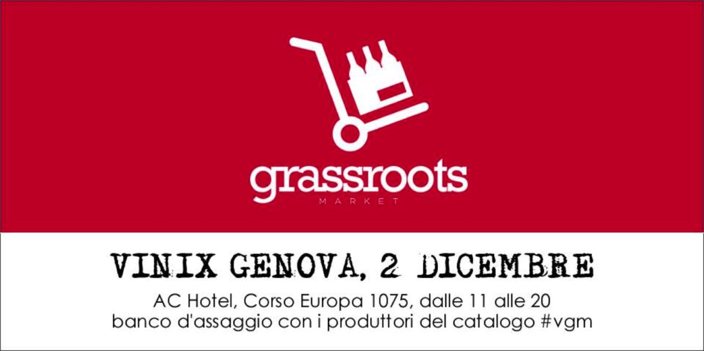 Vinix Grassroots Market a Genova sabato 2 Dicembre