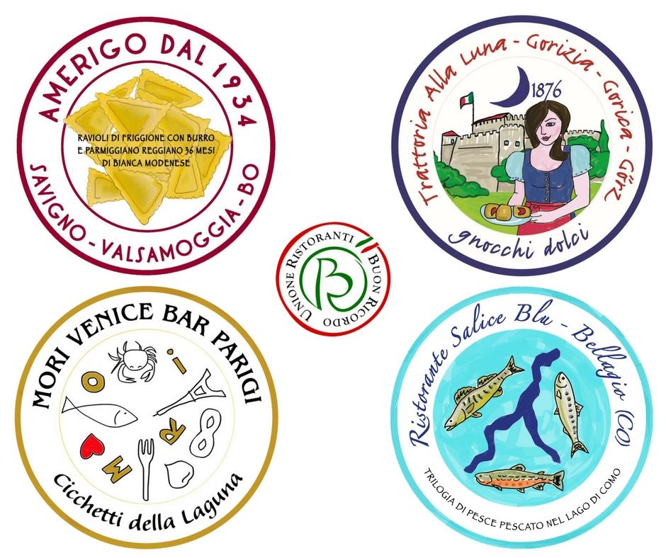 Due le nuove insegne che entrano a far parte dell'Unione Ristoranti del Buon Ricordo nel 2018: Amerigo dal 1934 Trattoria e Locanda di Savigno (Bologna) e la Trattoria alla Luna di Gorizia.