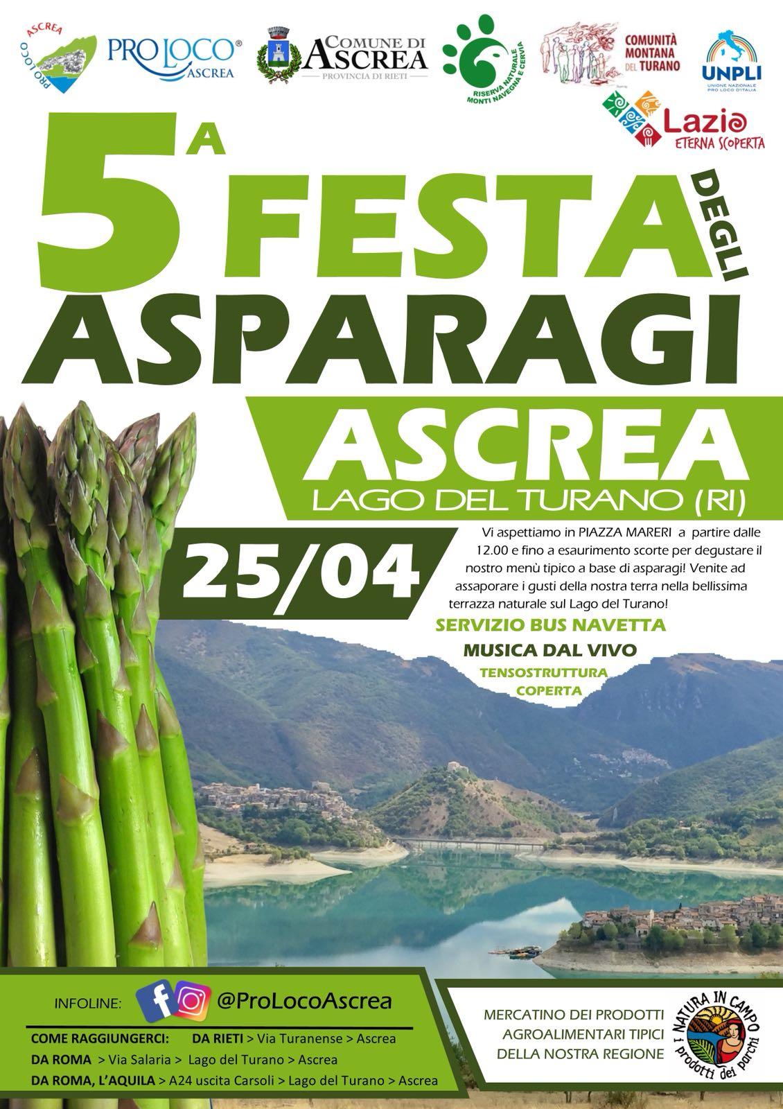 Ascrea (RI) festeggia gli asparagi a due passi dal Lago del Turano - 25 aprile