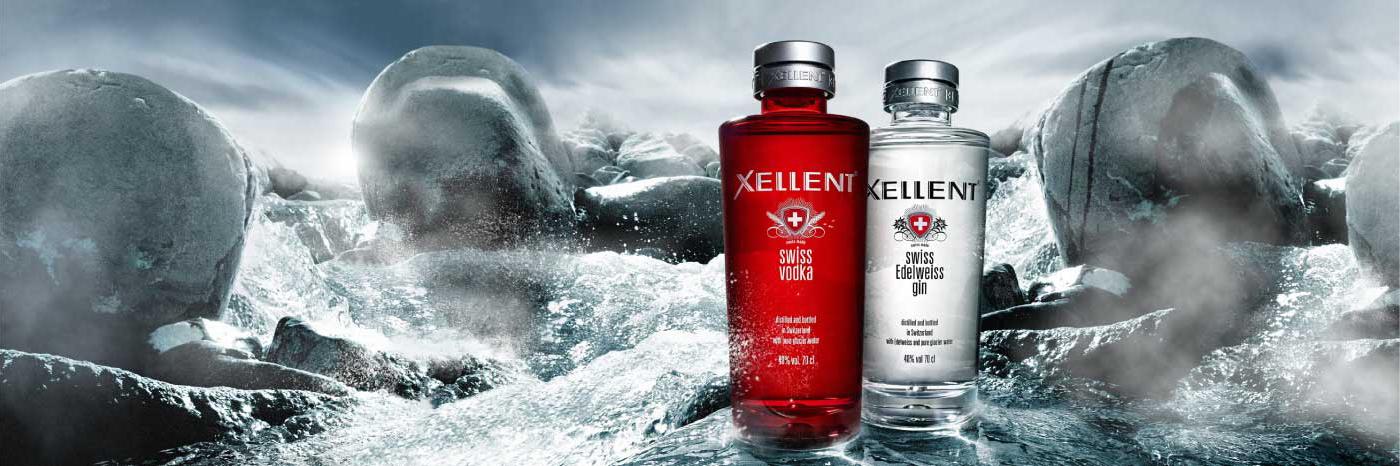 XELLENT Swiss Vodka, la vodka eccellente con acqua del ghiacciaio. Cristallina e 100% naturale