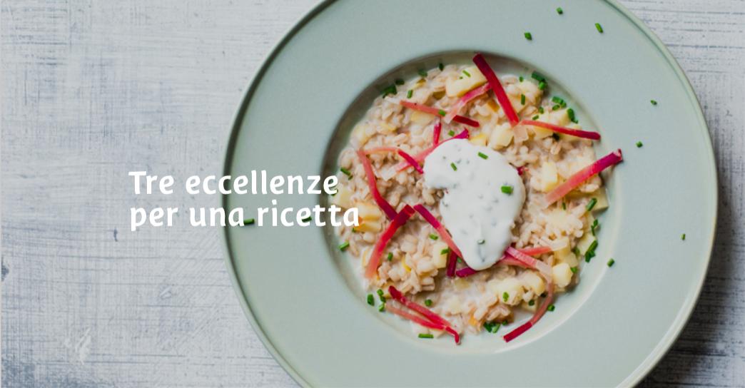 Tre eccellenze dell'Alto Adige per una squisita ricetta