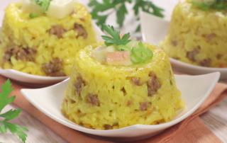Una ricetta per l'autunno: Sformatini di riso con cuore di Taleggio D.O.P.