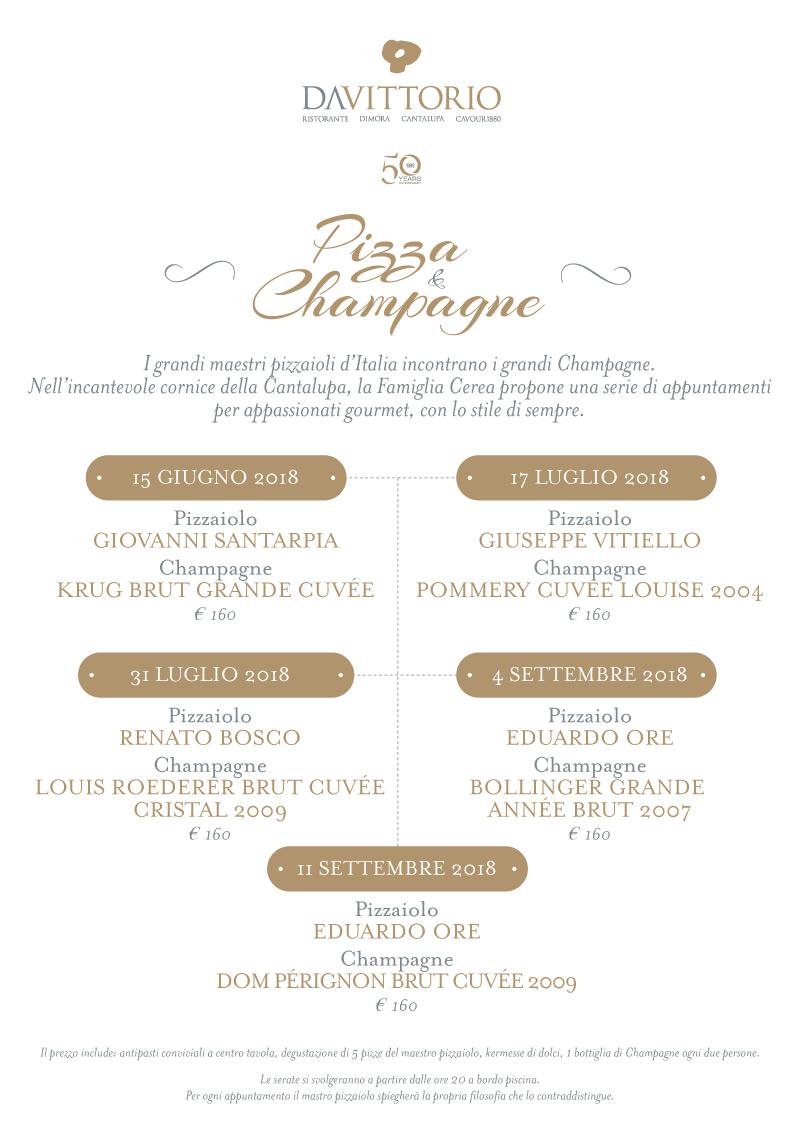Alla Cantalupa di Brusaporto l'esperimento culinario Pizza & Champagne -  15 giugno/11 settembre