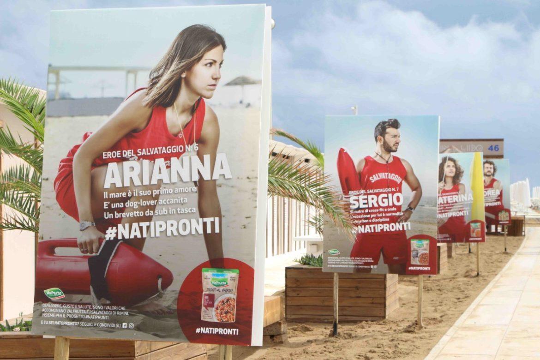 Valfrutta e Salvataggi della spiaggia di rimini partner della campagna #natipronti