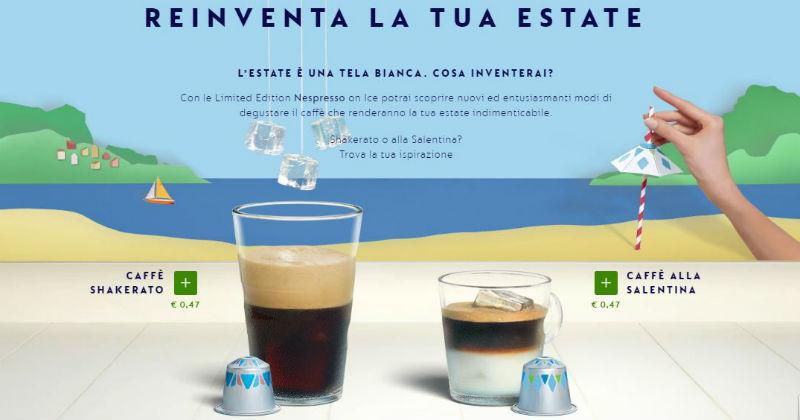La tua estate sarà Nespresso, con due nuovi caffè freddi, shakerato o alla salentina