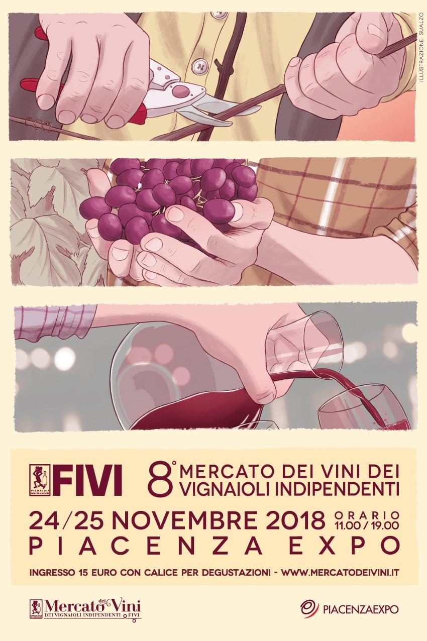 Mercato Fivi a Piacenza: i vignaioli raccontano i vignaioli