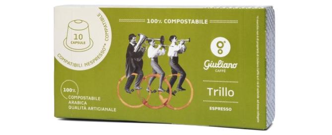 Trillo, la nuova capsula di Giuliano Caffè totalmente compostabile