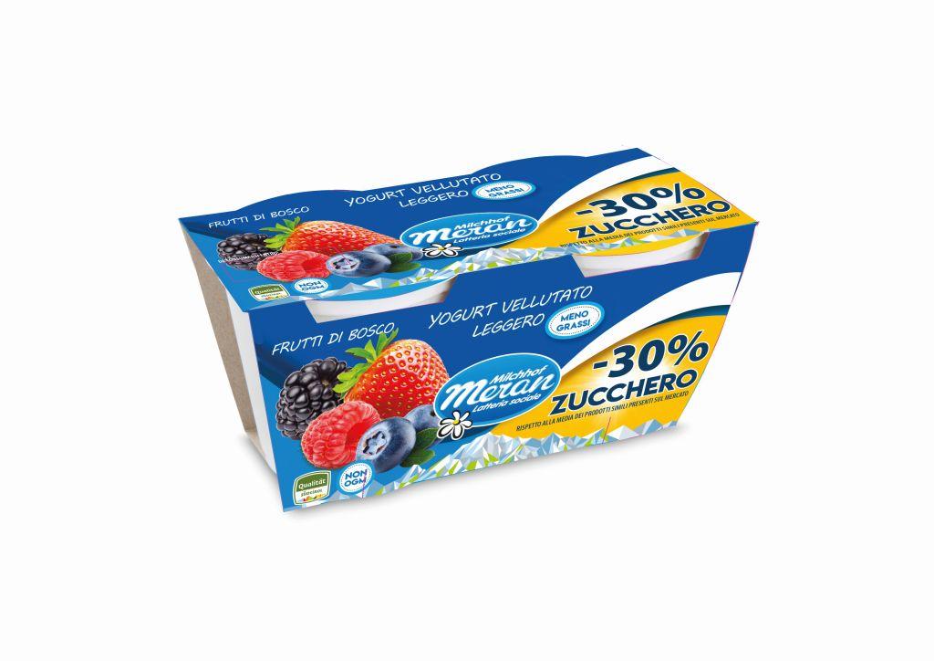 Latteria Sociale Merano presenta il primo Yogurt Vellutato con -30% di zucchero