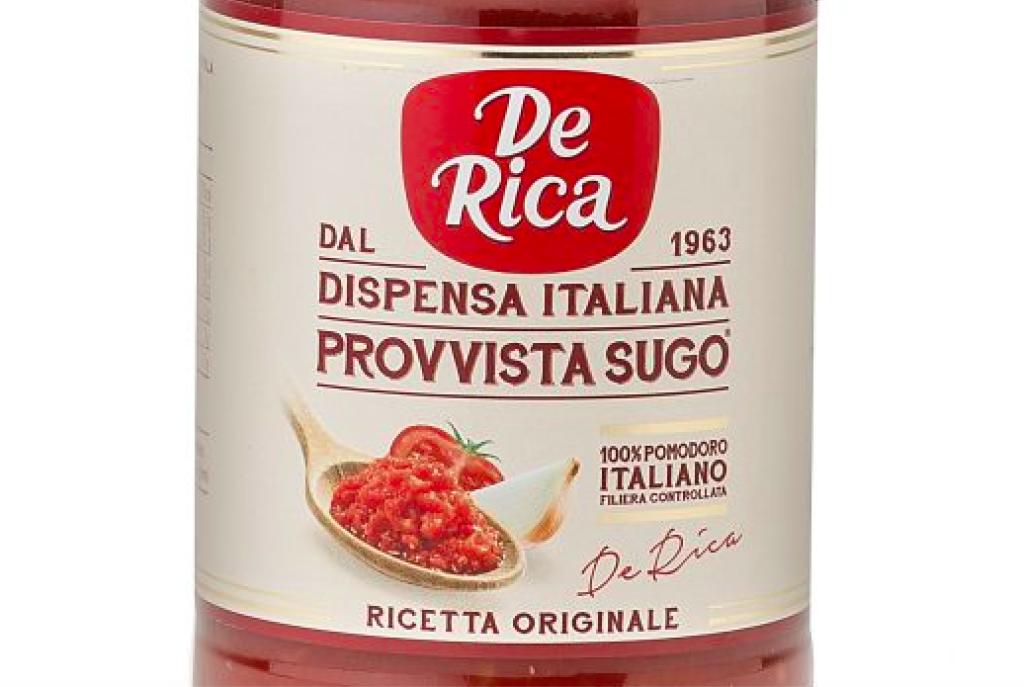 Provvista Sugo De Rica, l'intenso sapore del pomodoro italiano appena colto