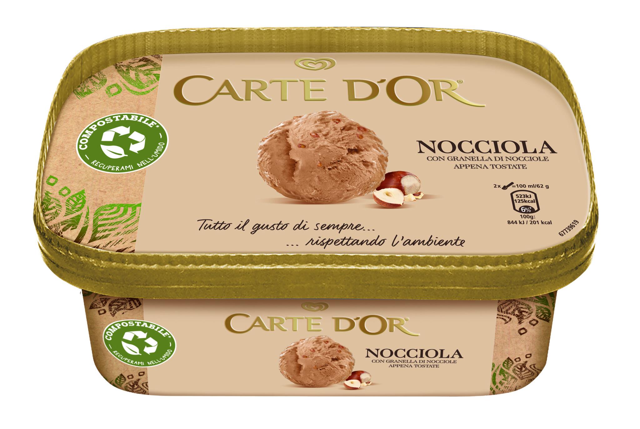 La vaschetta del gelato Carte D'Or ora è riciclabile e compostabile!