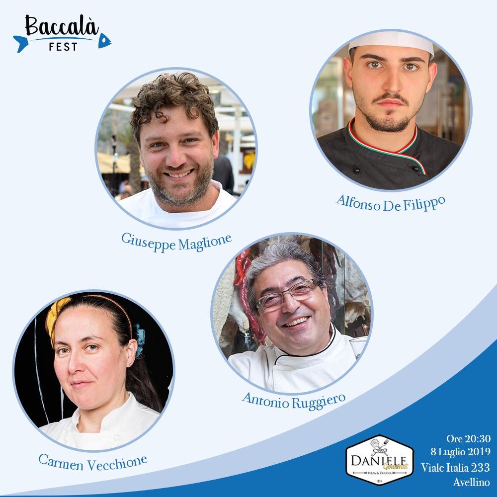 Ad Avellino Baccalà Fest da Daniele Gourmet per promuovere il baccalà