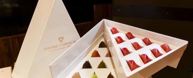 Pralina Panettone Milano, la nuova creazione al gusto panettone del maître chocolatier Davide Comaschi