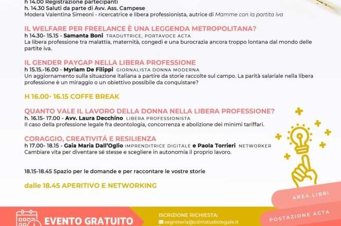Donne e lavoro al centro di un convegno: la Pasticceria Filippi sostiene l'evento