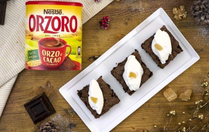 Ricette di Natale: prova i Brownies con Orzoro e zenzero candito