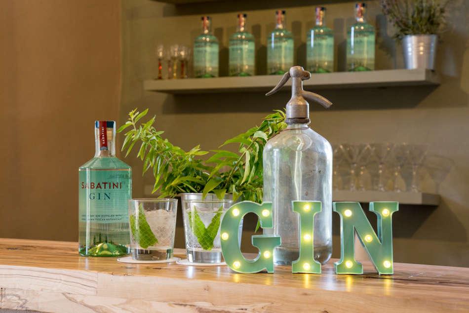 SABATINI GIN e limone per il cocktail self made SABA COLLINS