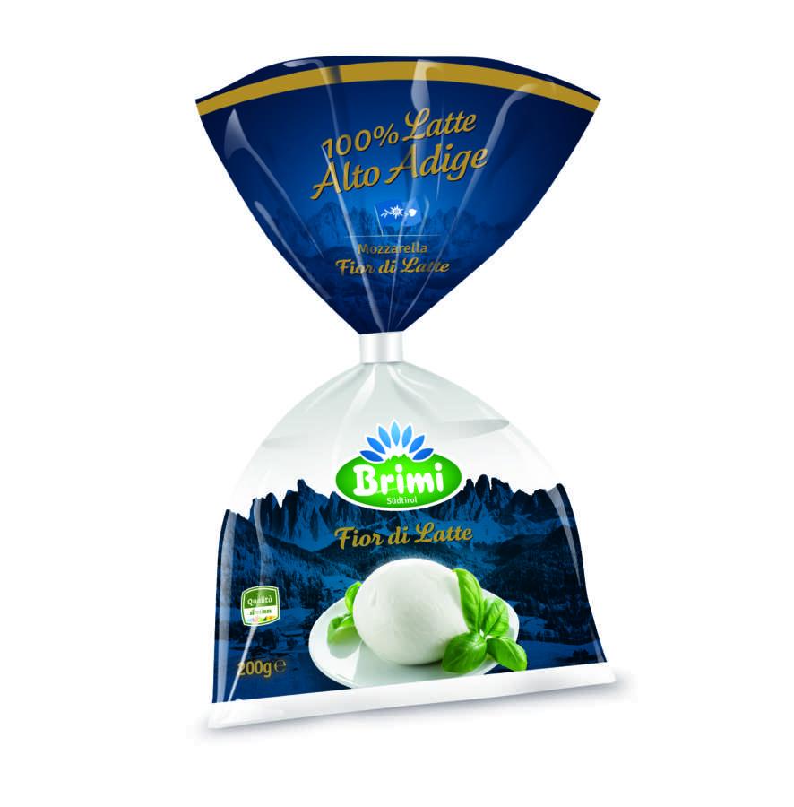 Mozzarella Fior di Latte ciuffo di Brimi con latte 100% dell'Alto Adige