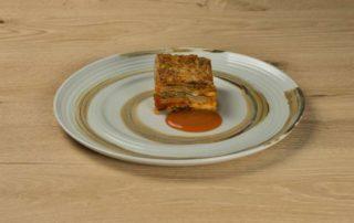 Lo chef Andrea Berton e la sua parmigiana di melanzane